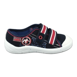 Slippers for boys' sneakers Befado 672x058 white red navy 1