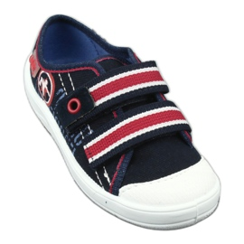 Slippers for boys' sneakers Befado 672x058 white red navy 2