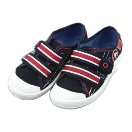 Slippers for boys' sneakers Befado 672x058 white red navy 4