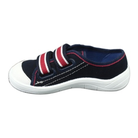 Slippers for boys' sneakers Befado 672x058 white red navy 3