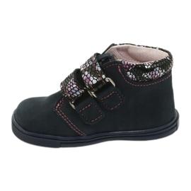 Velcro boots butterfly Mazurek 341 navy blue 1