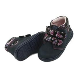 Velcro boots butterfly Mazurek 341 navy blue 3