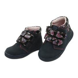 Velcro boots butterfly Mazurek 341 navy blue 2