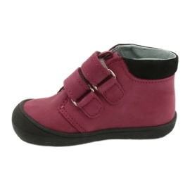 Velcro shoes heart Mazurek 1341 claret / black red 1