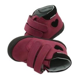 Velcro shoes heart Mazurek 1341 claret / black red 4