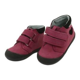Velcro shoes heart Mazurek 1341 claret / black red 2