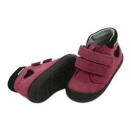 Velcro shoes heart Mazurek 1341 claret / black red 3