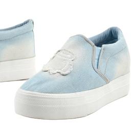 Cherilena wedge sneakers blue sneakers 1