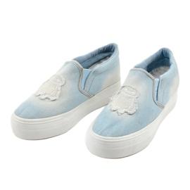 Cherilena wedge sneakers blue sneakers 2