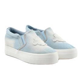 Cherilena wedge sneakers blue sneakers 3