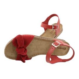 Comfort Inblu women's shoes 158D117 red 5