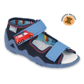 Befado yellow children's shoes 350P014 red navy blue 1