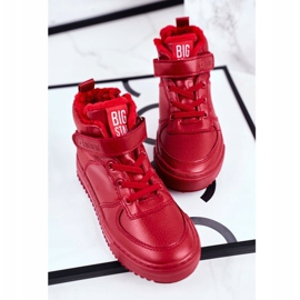 Children's Shoes Sneakers Big Star Warm Red GG374042 3