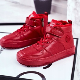 Children's Shoes Sneakers Big Star Warm Red GG374042 4