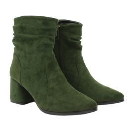 Daszyński Green MR2025-10 suede boots 3