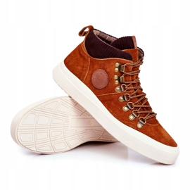 Men's Leather Sneakers Big Star Camel GG174332 brown multicolored 5