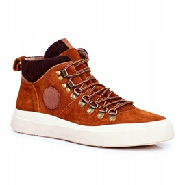 Men's Leather Sneakers Big Star Camel GG174332 brown multicolored 1