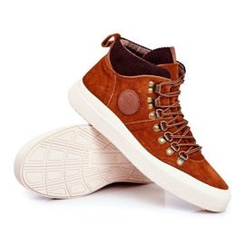 Men's Leather Sneakers Big Star Camel GG174332 brown multicolored 3