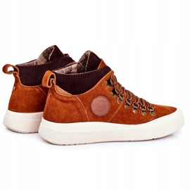 Men's Leather Sneakers Big Star Camel GG174332 brown multicolored 2
