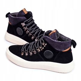 Men's Sneakers Leather Big Star Black GG174330 6