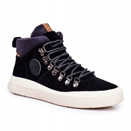 Men's Sneakers Leather Big Star Black GG174330 1