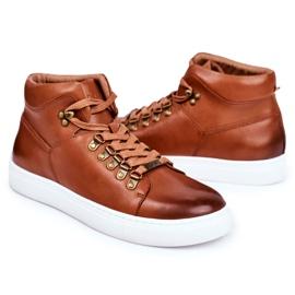 Men's Leather Sneakers GOE Brown GG1N3011 5