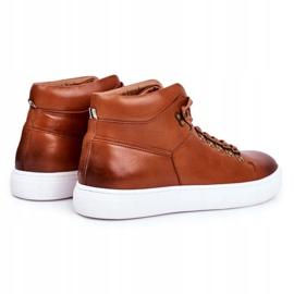 Men's Leather Sneakers GOE Brown GG1N3011 2