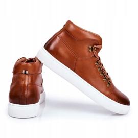 Men's Leather Sneakers GOE Brown GG1N3011 4