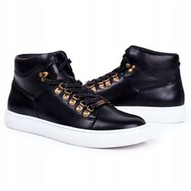 Men's Leather Sneakers GOE Black GG1N3009 6