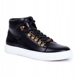Men's Leather Sneakers GOE Black GG1N3009 1