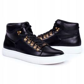 Men's Leather Sneakers GOE Black GG1N3009 2