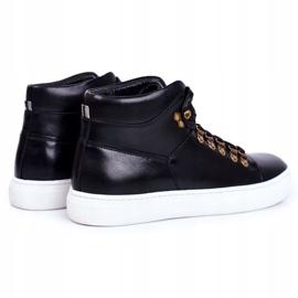 Men's Leather Sneakers GOE Black GG1N3009 3