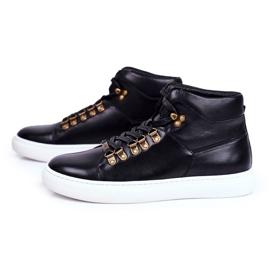 Men's Leather Sneakers GOE Black GG1N3009 4