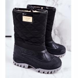 Apawwa Children's Fur-insulated Snow Boots Black Mussi 1