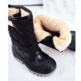 Apawwa Children's Fur-insulated Snow Boots Black Mussi 4