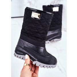Apawwa Children's Fur-insulated Snow Boots Black Mussi 2