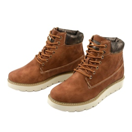Camel lace-up boots Haireino brown 2