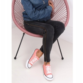 Classic women's coral sneakers JD05P Coral multicolored pink 3