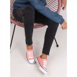 Classic women's coral sneakers JD05P Coral multicolored pink 2