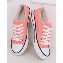 Classic women's coral sneakers JD05P Coral multicolored pink 1