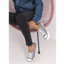 Gray classic women's sneakers JD05P Gray grey 3