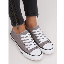 Gray classic women's sneakers JD05P Gray grey 4