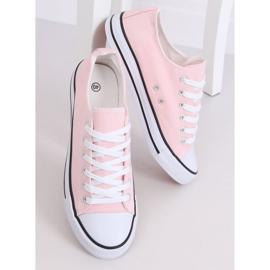 Classic women's sneakers light pink JD05P Pink 1