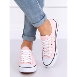 Classic women's sneakers light pink JD05P Pink 2