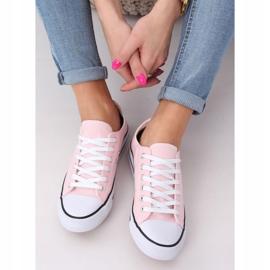 Classic women's sneakers light pink JD05P Pink 3