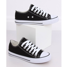 Classic black women's sneakers JD05 BLACK / WHITE 3