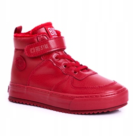 Children's Shoes Sneakers Big Star Warm Red GG374042 5