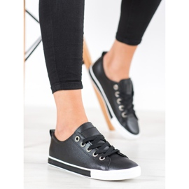 SHELOVET Eco Leather Sneakers black 1