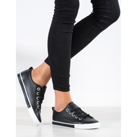 SHELOVET Eco Leather Sneakers black 2