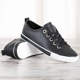 SHELOVET Eco Leather Sneakers black 3